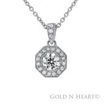 Squared Diamond Pendant