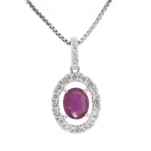 Oval Ruby Drop