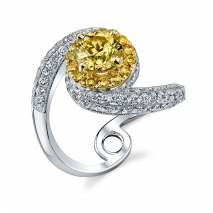 Yellow Diamonds Twisted Band