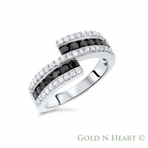 Split Black Diamond Band