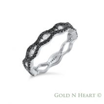 Infinity Black Diamond Ring