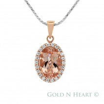 Morganite Oval Cut Pendant
