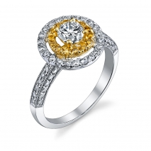Yellow Diamond Halo
