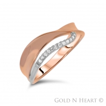 Twisted Rose Gold Band