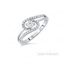 Twisted Halo Promise Ring