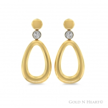 Yellow Gold Oval Drops