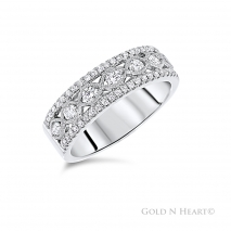 Twist center diamond wedding band