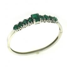 Oval Cut Emerald Bangle