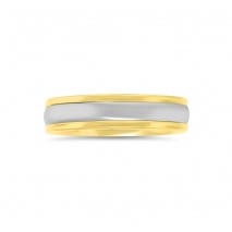 Yellow and White Gold Men's Band