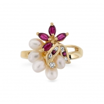 Pearl and Ruby Ring