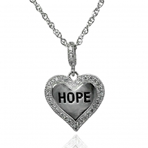 Hope CZ Heart