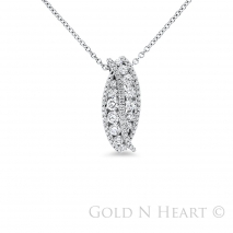 Wave Channel Set Diamond Pendant