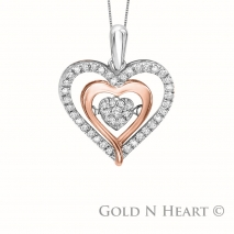 Shimmering Diamond Rose Gold Heart