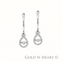 Shimmering Diamond Pear Shape Drops