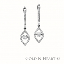 Shimmering Diamond Marquise Shape Earrings