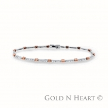 Rose Gold Beaded Diamond Bracelet