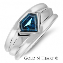 Blue Diamond Superman Ring