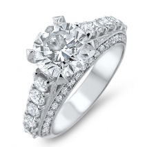 Two carat platinum engagement ring