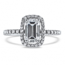 Emerald Cut Diamond Halo