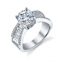 Tapered Baguette Engement Ring