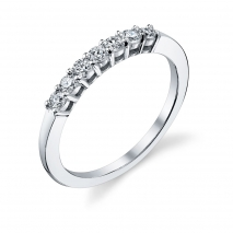 Seven Stone Round Diamond Band