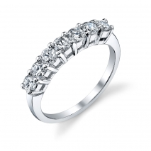 Seven Stone Round Diamond Band High Set