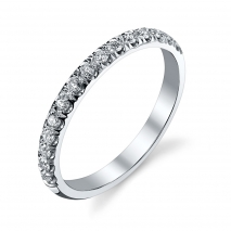 Pave Set Round Diamond Band