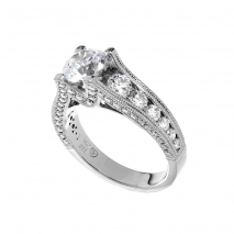 Channel Set Round Diamonds with Pave Side Diamonds