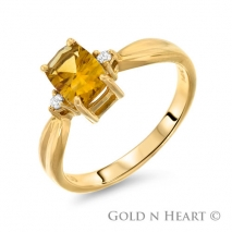 Emerald Cut Citrine