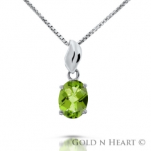 Oval Cut Peridot Drop